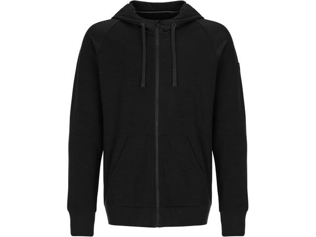 super.natural Essential Veste à capuche zippée Homme, jet black
